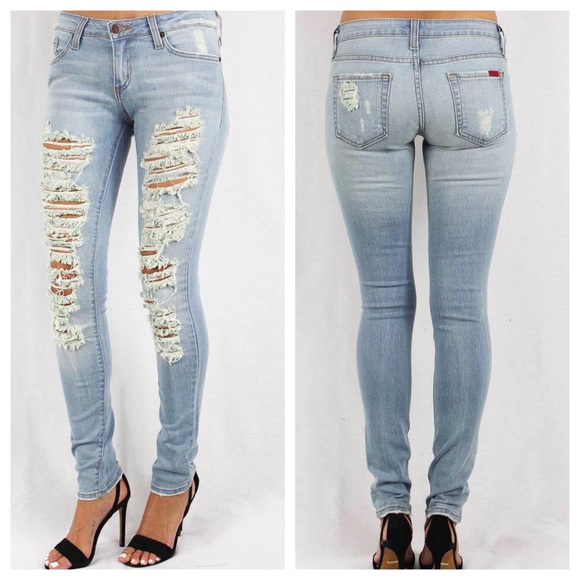 GJG Denim Denim - Shredded Skinny Jeans